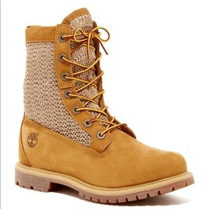Timberland Open Weave 6-in Boots Size 8.5